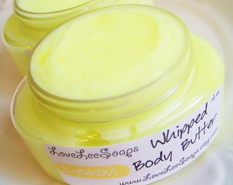 Whipped Body Butter Lemonade  - Whipped Body Lotion, Body Frosting, Body Whip, Skin Care, Body Lotion, Moisture, Hand Cream, Lemon, Vegan