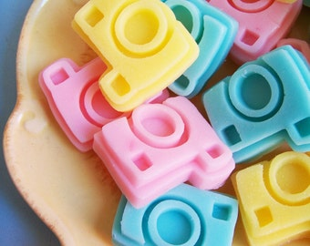 Camera Soap Mini Cotton Candy Set - Photographer Gift, Photography Soap, Soap Favors, Selfie Soap, Travel Soap, Mini Soap, Kids Soap, Vegan