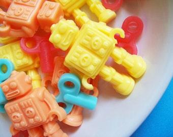 Robot Soap Mini Watermelon Set - Soap Favors, Kids Soap, Watermelon Soap, Boys Soap, Novelty Soap, Gift For Him, Geek Soap, Science Soap
