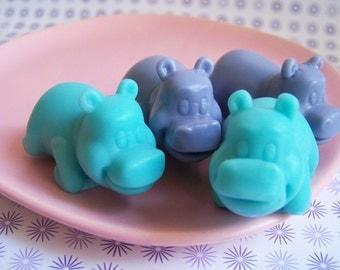 Hippo Soap Lavender Set - Animal Soap, Hippopotamus Soap, Baby Shower Favors, Soap Favors, Lavender Soap, Gift For Her, Hostess Gift, Teen