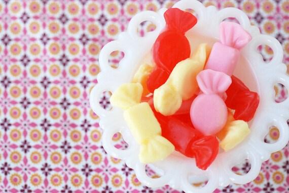 Sweet Candy Soap Set - Soap Candies, Soap Favors, Food Soap, Cherry Soap, Lemon Soap, Strawberry Soap, Kids Bath, Novelty Soap, Wholesale