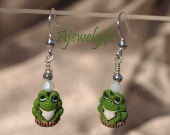 Adorable Frog Earrings 10085