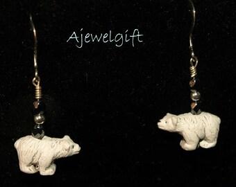 Polar Bear Earrings (9088)