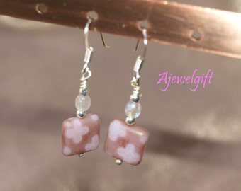 Lovely Muted Pink Earrings 12015