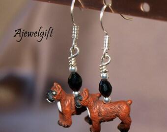 Boxer Dog Earrings 12048