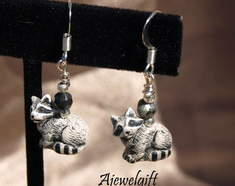 Raccoon Earrings 11046