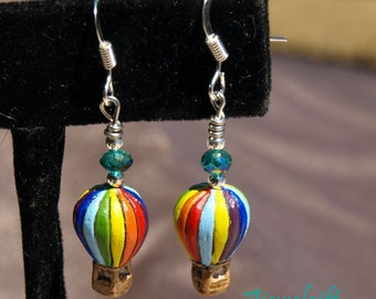Hot Air Balloon Earrings 12063
