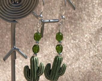 Cactus Dangle Earrings (9061)