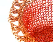 ELENA -- Belle of the Ball -- crocheted copper wire basket