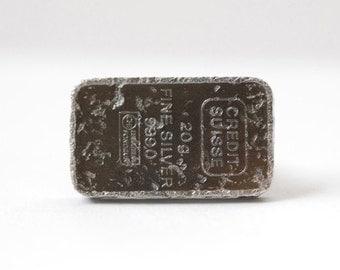 fine silver found object