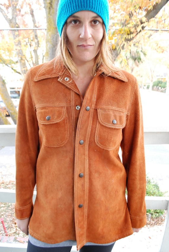 1970's bohemian chic suede/leather jacket. SIZE M