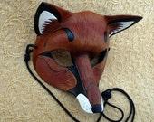 Red Fox Mask ...handmade leather fox mask