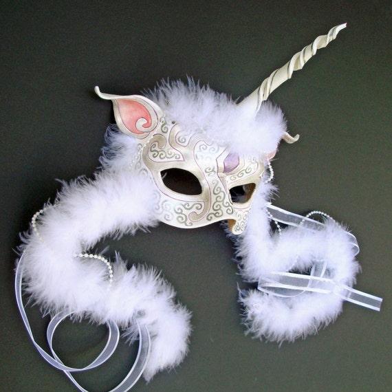 CUSTOM UNICORN MASK... handmade leather mask made to order