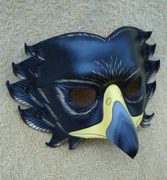 Black Eagle Mask... limited edition handmade leather mask