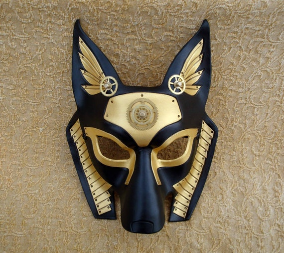 Industrial Anubis V5 ... original mixed media handmade steampunk egyptian jackal mask