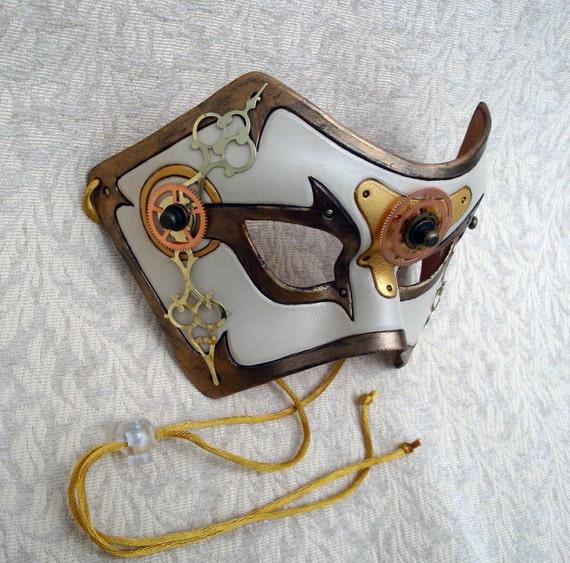 Time Bandit V12... original mixed media handmade steampunk mask