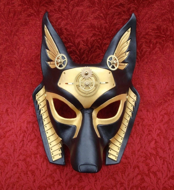 Industrial Anubis V14 ... original mixed media handmade steampunk egyptian jackal mask
