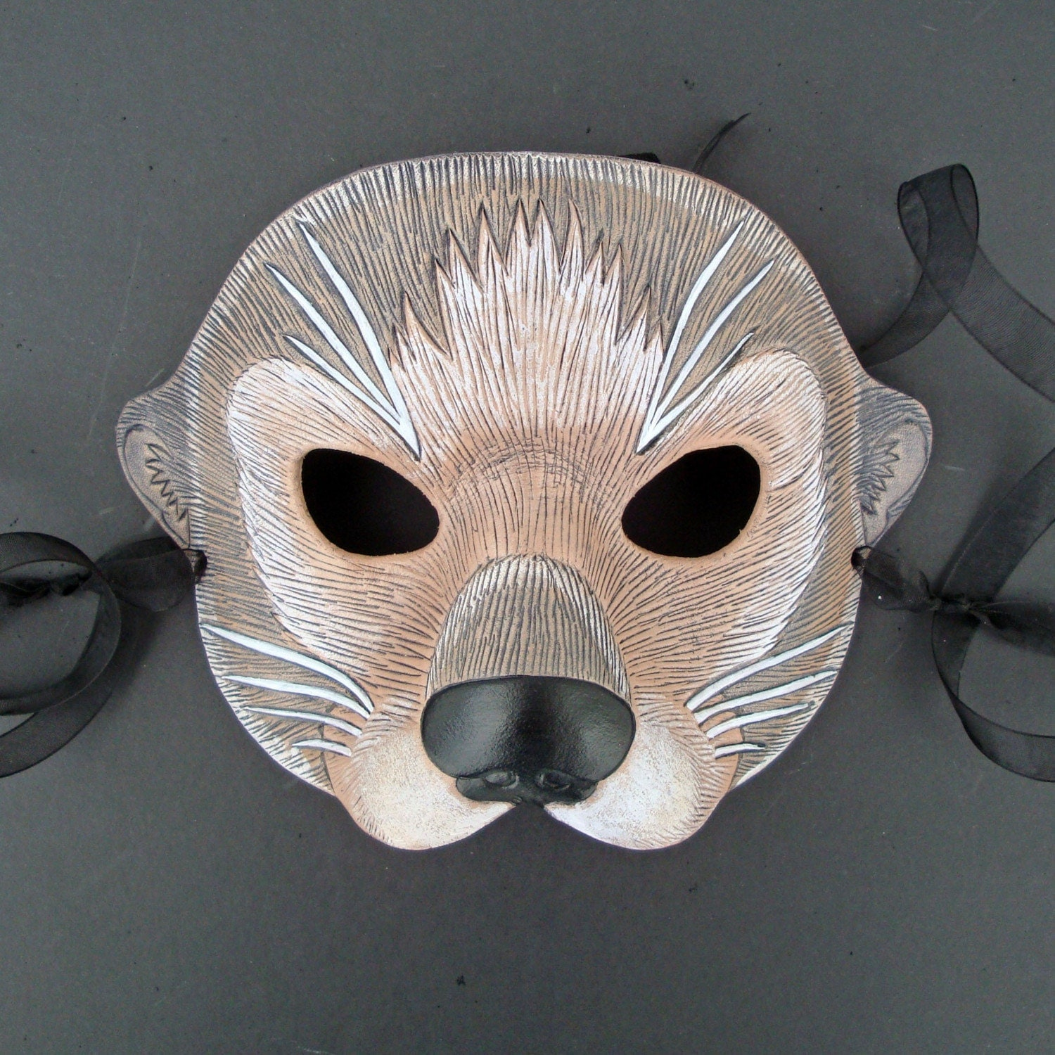 Sea Otter Mask...Original Handmade Leather Mask