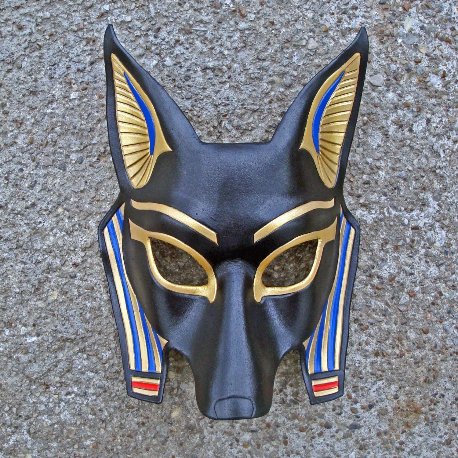 Egyptian Jackal Mask Anubis...handmade leather mask