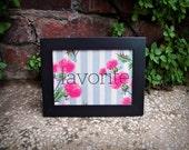 Favorite (framed gocco print)