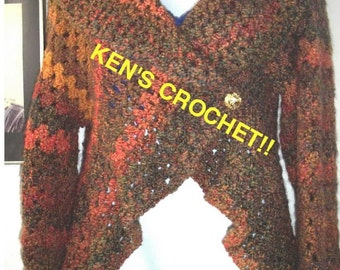 Homespun 'Harvest' Cocoon Sweater-Pattern Only Digital Download