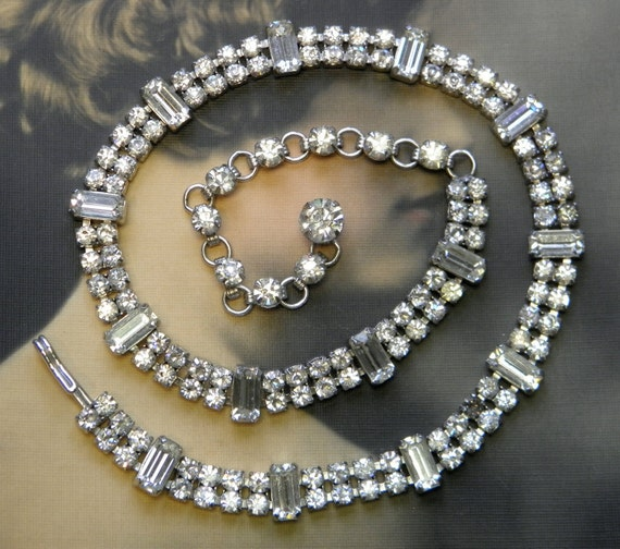 Vintage Kramer Rhinestone Necklace Choker