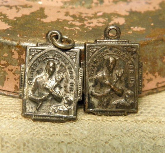 Vintage Religious Medals St. Anne