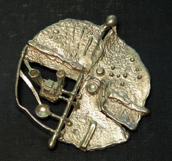 Modernist Pendant Cast Metal