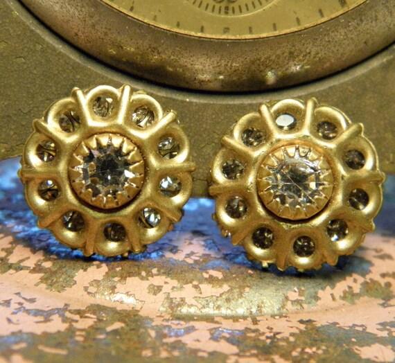 Vintage Crystal Swarovski Gold metal Findings