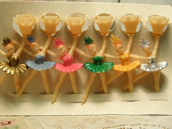 Vintage Ballerina Candle Holders
