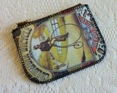 Vintage Cyclists Zippered Pouch