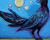 Grackle Contemplating His Dreams Art Print