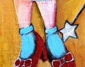 Ruby Slippers I Oz Series Art Print