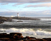 Peggy's Cove Lighthouse- Hurricane Bill- 8 x 10 print