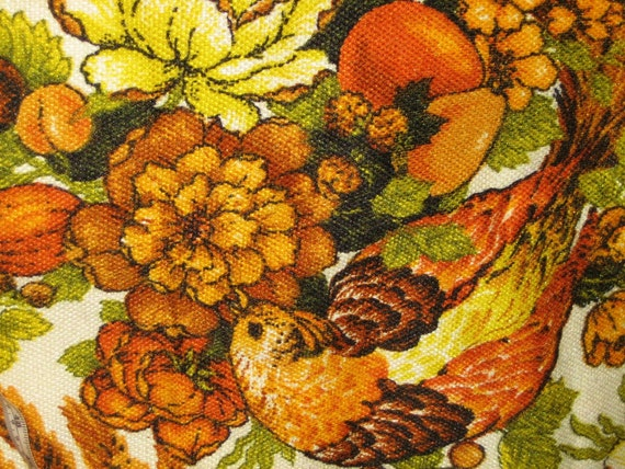 Charming Vintage Fabric - Bright and Beautiful - Barkcloth