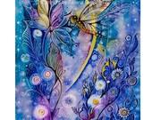 Dragonfly-Print from original watercolor by Tatiana Oles