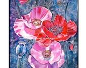 Red Poppy / Flowers / Wall Art / Room Decor / Pink Poppy / Plants Art Print
