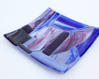 Fused Glass Mosiac Plate