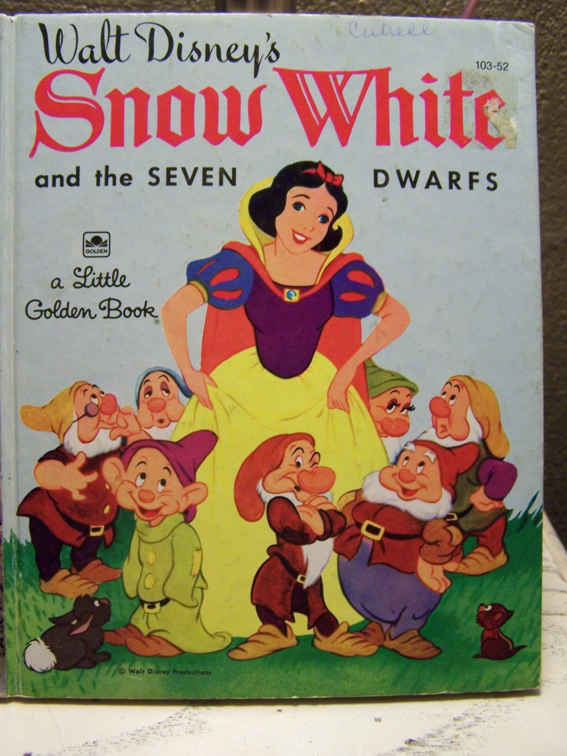 Snow White Book Cover : Vintage little golden book snow white and the seven