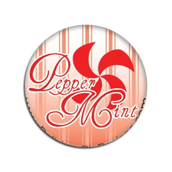 CLEARANCE button - Pepper Mint (Logo) - A sweet drag queen