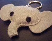 Baby Elephant Plush Keychain