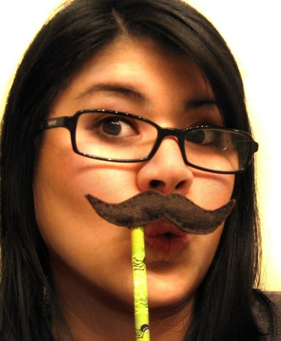 Moustache Disguise Pencil Topper