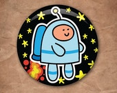 Spaceman 1 Inch Button Badge