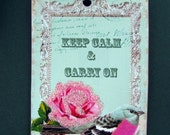Keep Calm Carry On Shabby Chic Style Tags