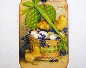 Victorian Postcard Easter Tags Handmade