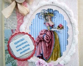 Vintage Shabby Marie Antoinette Style Greeting Card