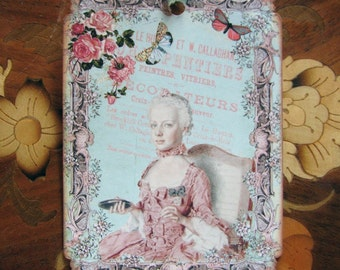 Marie Antoinette Gift tags Pretty in Pink