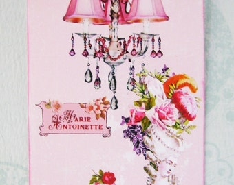 Marie Antoinette Let Them Eat Cake Pink Gift Tags