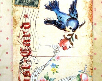 Sweet Shabby Postcard Tags