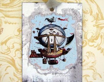 Blank Gift Tags Hot Air Ballon AirShip